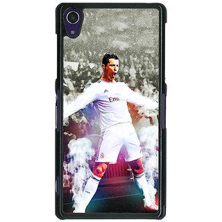 1 Crazy Designer Cristiano Ronaldo Real Madrid Back Cover Case For Sony Xperia Z1 C470305