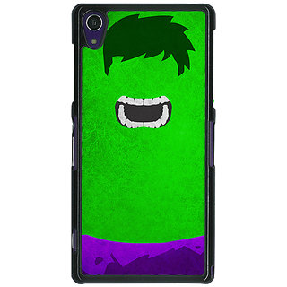 1 Crazy Designer Superheroes Hulk Back Cover Case For Sony Xperia Z1 C470322