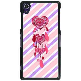 1 Crazy Designer Heart Dream Catcher Back Cover Case For Sony Xperia Z1 C470704