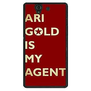 1 Crazy Designer Entourage Ari Gold Back Cover Case For Sony Xperia Z C460436