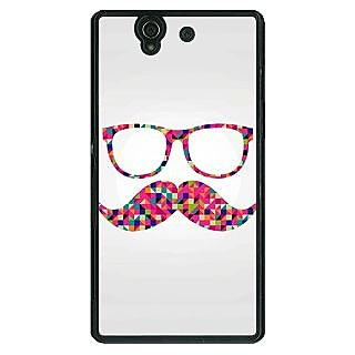 1 Crazy Designer Mustache Back Cover Case For Sony Xperia Z C460751