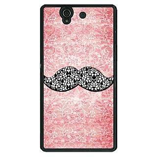 1 Crazy Designer Mustache Back Cover Case For Sony Xperia Z C460752