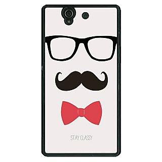 1 Crazy Designer Mustache Back Cover Case For Sony Xperia Z C460756