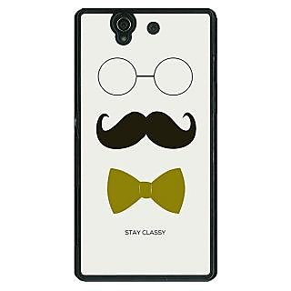 1 Crazy Designer Mustache Back Cover Case For Sony Xperia Z C460757
