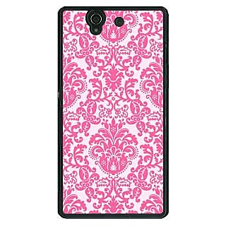 1 Crazy Designer Pretty Pink Back Cover Case For Sony Xperia Z C460770