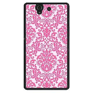 1 Crazy Designer Pretty Pink Back Cover Case For Sony Xperia Z C460770