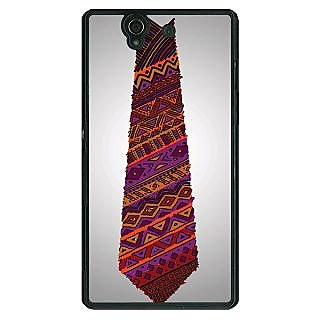 1 Crazy Designer Tribal Tie Back Cover Case For Sony Xperia Z C460778