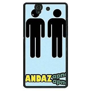 1 Crazy Designer Bollywood Superstar Andaz Apna Apna Back Cover Case For Sony Xperia Z C461080