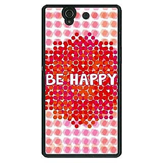 1 Crazy Designer Quotes Happy Back Cover Case For Sony Xperia Z C461154