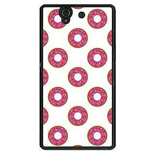 1 Crazy Designer Donut Pattern Back Cover Case For Sony Xperia Z C461384