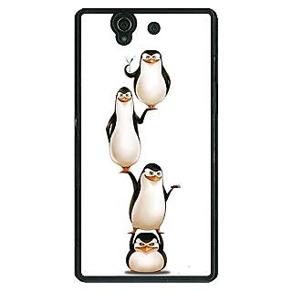 1 Crazy Designer Penguins Madagascar Back Cover Case For Sony Xperia Z C461385