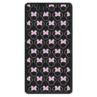 1 Crazy Designer Minnie Mouse Pattern Back Cover Case For Sony Xperia Z C461386