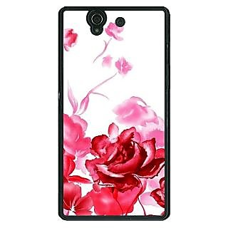 1 Crazy Designer Floral Pattern Back Cover Case For Sony Xperia Z C461410