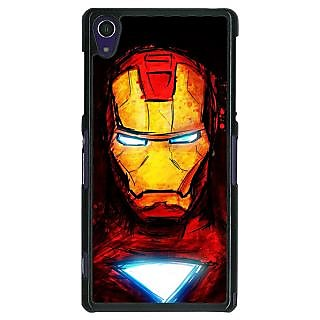 1 Crazy Designer Superheroes Ironman Back Cover Case For Sony Xperia Z1 C470030