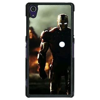 1 Crazy Designer Superheroes Ironman Back Cover Case For Sony Xperia Z1 C470033