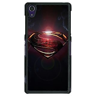 1 Crazy Designer Superheroes Superman Back Cover Case For Sony Xperia Z1 C470035