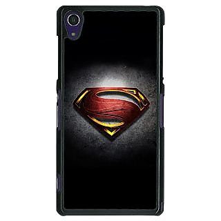 1 Crazy Designer Superheroes Superman Back Cover Case For Sony Xperia Z1 C470037