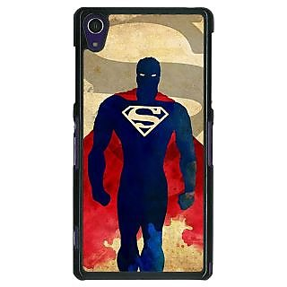 1 Crazy Designer Superheroes Superman Back Cover Case For Sony Xperia Z1 C470040