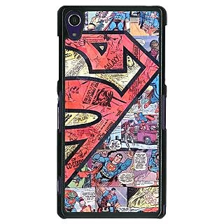 1 Crazy Designer Superheroes Superman Back Cover Case For Sony Xperia Z1 C470044