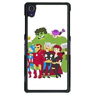 1 Crazy Designer Superheroes Baby Avengers Back Cover Case For Sony Xperia Z1 C470337