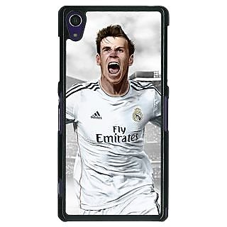 1 Crazy Designer Real Madrid Bale Back Cover Case For Sony Xperia Z1 C470583