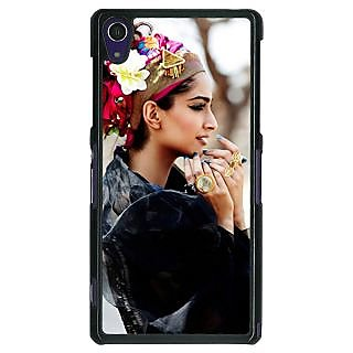 1 Crazy Designer Bollywood Superstar Sonam Kapoor Back Cover Case For Sony Xperia Z1 C470984