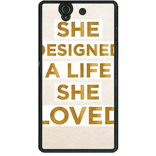 1 Crazy Designer Quotes Beautiful Back Cover Case For Sony Xperia Z C461190