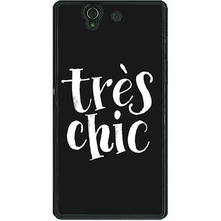 1 Crazy Designer Quote Back Cover Case For Sony Xperia Z C461469