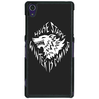 1 Crazy Designer Game Of Thrones GOT House Stark  Back Cover Case For Sony Xperia Z1 C470121