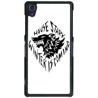 1 Crazy Designer Game Of Thrones GOT House Stark  Back Cover Case For Sony Xperia Z1 C470127