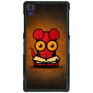 1 Crazy Designer Big Eyed Superheroes Hell Boy Back Cover Case For Sony Xperia Z1 C470400