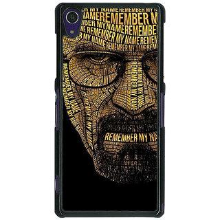 1 Crazy Designer Breaking Bad Heisenberg Back Cover Case For Sony Xperia Z1 C470430