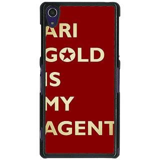 1 Crazy Designer Entourage Ari Gold Back Cover Case For Sony Xperia Z1 C470436