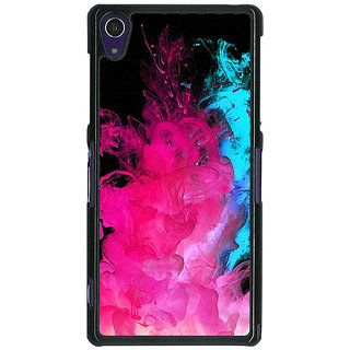 1 Crazy Designer Colourful Smoke Back Cover Case For Sony Xperia Z1 C470776