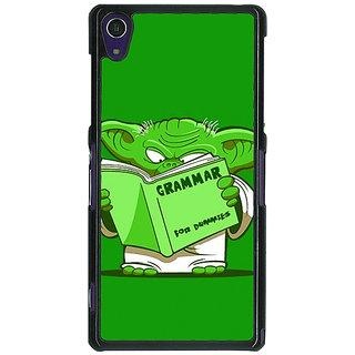 1 Crazy Designer Grammar Yoda Back Cover Case For Sony Xperia Z1 C470812