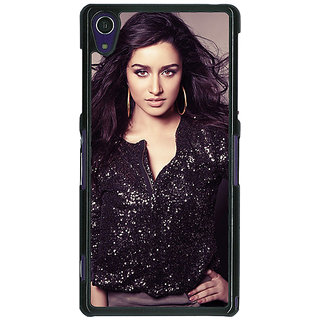 1 Crazy Designer Bollywood Superstar Shraddha Kapoor Back Cover Case For Sony Xperia Z1 C471064