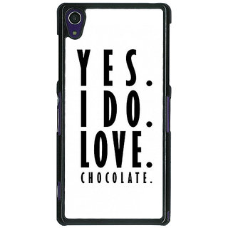 1 Crazy Designer Chocolate Quote Back Cover Case For Sony Xperia Z1 C471286