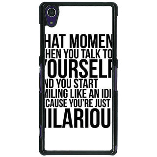 1 Crazy Designer Quote Back Cover Case For Sony Xperia Z1 C471314