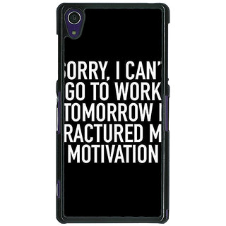 1 Crazy Designer Quote Back Cover Case For Sony Xperia Z1 C471324