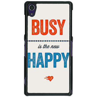 1 Crazy Designer Quote Back Cover Case For Sony Xperia Z1 C471325