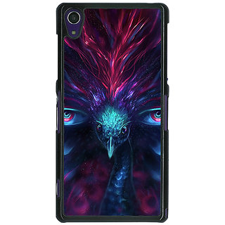 1 Crazy Designer Paisley Beautiful Peacock Back Cover Case For Sony Xperia Z1 C471594