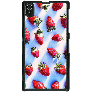 1 Crazy Designer StrawberryPattern Back Cover Case For Sony Xperia Z2 C480202