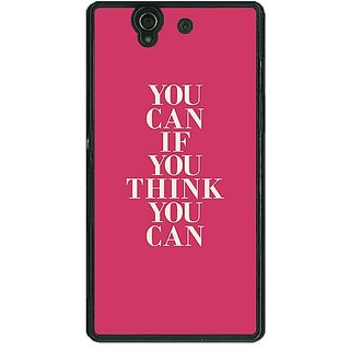 1 Crazy Designer Quotes Back Cover Case For Sony Xperia Z C461193