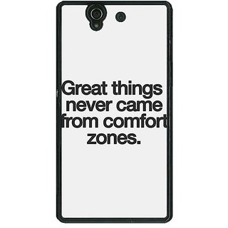 1 Crazy Designer Quotes Back Cover Case For Sony Xperia Z C461196
