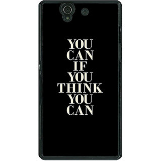 1 Crazy Designer Quote Back Cover Case For Sony Xperia Z C461480