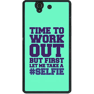1 Crazy Designer Selfie Quote Back Cover Case For Sony Xperia Z C461499