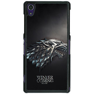 1 Crazy Designer Game Of Thrones GOT House Stark  Back Cover Case For Sony Xperia Z1 C470134