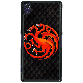 1 Crazy Designer Game Of Thrones GOT House Targaryen  Back Cover Case For Sony Xperia Z1 C470138