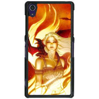 1 Crazy Designer Game Of Thrones GOT House Targaryen  Back Cover Case For Sony Xperia Z1 C470146