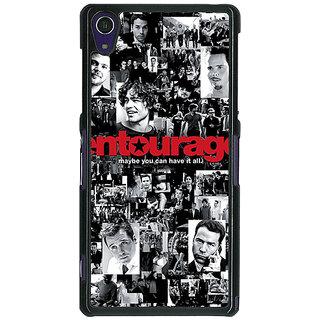 1 Crazy Designer Entourage Back Cover Case For Sony Xperia Z1 C470438